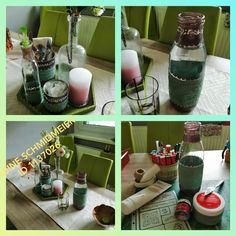 Table Decorations, Home Decor, Palette Knife, Water Bottle, Stencils, Flasks, Simple, Decoration Home, Room Decor