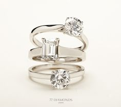 Beautiful #classic #rings for this gorgeous summer day! Which sparkler do you like best?