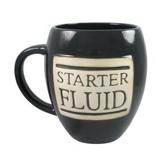Starter Fluid giant coffee mug Need Coffee, Coffee Talk, Coffee Break, Morning Coffee, Coffee Shop, My Coffee, Coffee Mugs, Coffee Lovers, Coffee Today