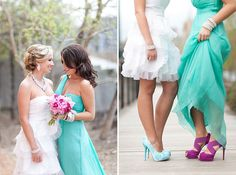 Bold Purple + Teal Watercolor Inspiration Session | Images by Heather Cook Elliot Photography, Styling by Tailored Engagements | Via Modernly Wed | 35