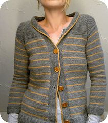 """Paulie by Isabell Kraemer // Many """"space cadets"""" have cast on for this comfy cardi in Rustic Fingering — we'd love to help with color combinations! It's fun to knit and the bonus is, it's a free pattern!"""