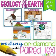 Geology of Earth Paired Texts Bundle: Writing Informational Explanatory Essays