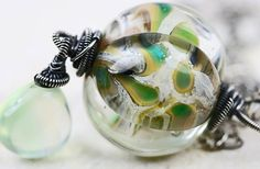 SALE  40 off  Glass Lampwork Necklace  The by JewelsByLDesigns, $29.00