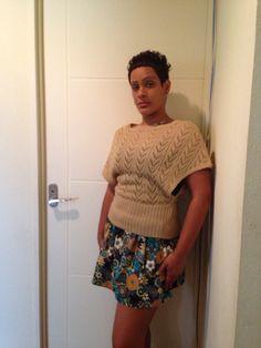 Simple waistband skirt. Handmade. Reversible Tote Bag, One Shoulder, Blouse, Simple, Skirts, Handmade, Tops, Women, Fashion