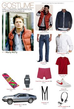 Marty McFly Back to the Future - halloween costume Marty Mcfly Halloween Costume, Cute Halloween Costumes, 80s Costume, Costume Ideas, Doc Brown Costume, Back To The Future Party, 80s Party Outfits, New Mode, Halloween Disfraces