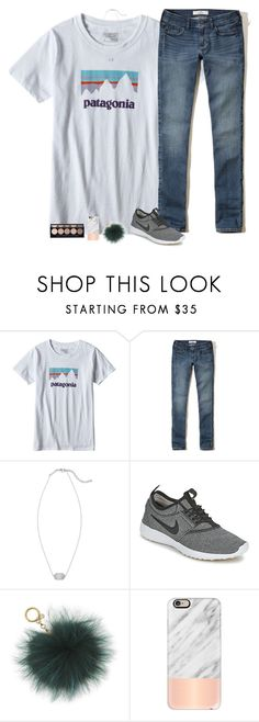 """""""I laid out today!"""" by sweet-n-southern ❤ liked on Polyvore featuring Patagonia, Hollister Co., Kendra Scott, NIKE, MICHAEL Michael Kors, Casetify and Witchery"""