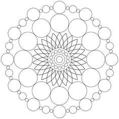 Mandala-Ausmalbild Nr. 65