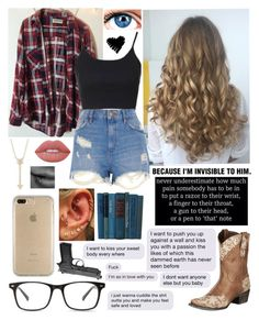 """'Darling I'm a Mess'"" by prettyflyforwifi ❤ liked on Polyvore featuring Brandy Melville, EF Collection, Topshop, River Island, Lane, Lime Crime, Speck, E.vil and sabrinacarpenter"