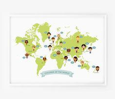 World Map Map of the World Children with Traditional by loopzart