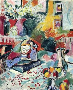 Interior with a Girl Reading - Henri Matisse - 1905