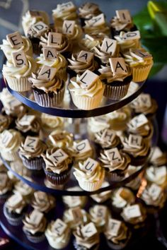 New wedding games for bride and groom scrabble tiles ideas Cupcake Party, Birthday Cupcakes, Cupcake Cakes, 90th Birthday, Cup Cakes, Mini Cupcakes, Birthday Ideas, New Wedding Games, Board Game Wedding