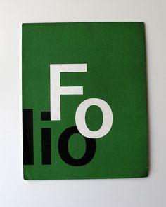 Brochure to promote Folio, design Hanns Lohrer and Walter Krafft / 1957(?), via Flickr.