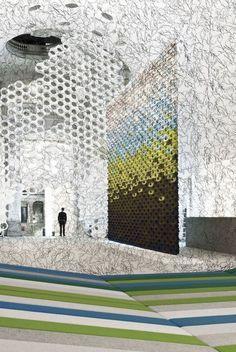 Momentané by Ronan and Erwan Bouroullec at Les Arts Décoratifs in Paris.