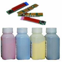 4 Pk Refill Laser Color Toner Powder Kits + Chips For HP Laserjet 1600 1600N 1600LN 2600 2600N 2600LN 2605 Q6000A 124A Printer