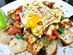 Jicama Chips with Tofu & Egg