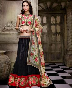 Buy Fascinating Black Lehenga Choli online at  https://www.a1designerwear.com/fascinating-black-lehenga-choli-4  Price: $58.48 USD