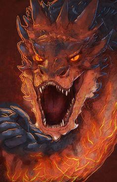 The Hobbit Smaug Dragon Portrait Fan Art Prints and Posters Der Hobbit Smaug Drachen Porträt Fan Kunstdrucke und Poster Hobbit Art, O Hobbit, Fantasy Dragon, Fantasy Art, Fantasy Creatures, Mythical Creatures, Smaug Dragon, Hobbit Dragon, Dragon Head