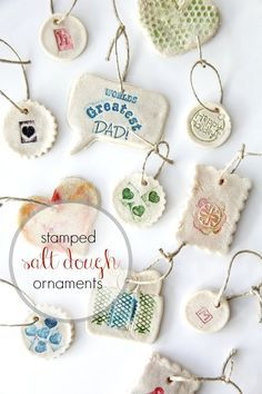 Easy stamped salt dough ornaments for kids