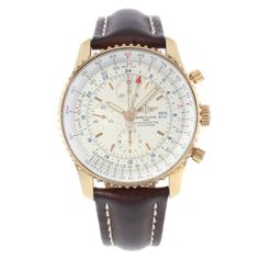 Breitling Navitimer World R24322 18k Rose Gold Automatic Men's Wristwatch | eBay