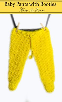 Baby pants footed or non-footed free crochet pattern