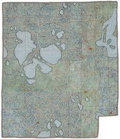 scrapbook.: Leah Evans's map quilts. Wisconsin.