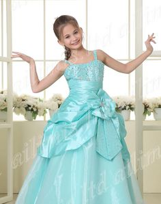 Wholesale 2014 straps sweetheart beaded overskirts bows ruffles Organza Floor length Ruffles Belt party formal occasion ball gown girl pageant dresses, Free shipping, $74.41/Piece | DHgate Mobile