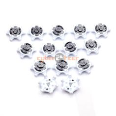 d18cf9bc7 NEW Golf Spikes Pins Turn Fast Twist Shoe Spikes Replacement Description   Condition  brand new Color White + Gray Size  about x