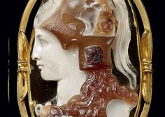 Detail of a Roman sardonyx cameo showing the goddess Minerva which fetched $60K at a Christies auction in 2010. Julio-Claudian, i.e. 1st C AD