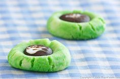 St Patricks Day - GrEeN peanut butter cookies with reeses on top...mmm
