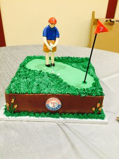 Golf course grooms cake