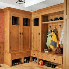 Oak Built Ins Mud Room Design Ideas, Pictures, Remodel and Decor