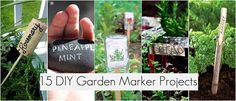 15 great DIY Garden Marker Projects