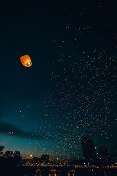 Love the floating lanterns