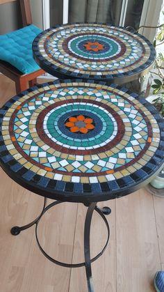 Mosaic Tile Designs, Mosaic Tile Art, Mosaic Crafts, Mosaic Projects, Mosaic Patterns, Mosaic Glass, Mirror Mosaic, Mosaics, Mosaic Patio Table