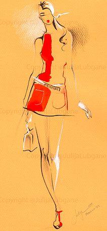 Julija Lubgane Illustration | Chicago Fashion Illustrator and artist | WATERCOLOR