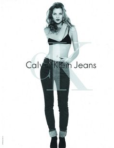 Photo 30 : Kate Moss is one of the most famous model in 1990s. Her image is most remembered with Calvin Klein 's campaign , one of the biggest advertising campaign over this time.