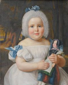 Ferdinand Georg Waldmüller 1793-1865 , with a doll