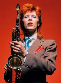 Bowie, Sax Full-Length Color, 1973
