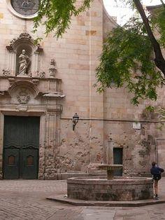 Sant Felip Neri square, Barcelona, Spain