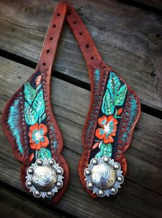 Spur straps by the cowboy junkie ! I don't use spurs but these straps are sweet. Cowgirl Bling, Cowboy And Cowgirl, Cowgirl Style, Cowgirl Boots, Cowgirl Fashion, Horse Gear, My Horse, Horse Love, Cow Girl