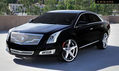 "Lexani Wheels, the leader in custom luxury wheels.  2013 Cadillac XTS with 22"" Chrome R-Four."