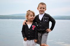 Personalized Toddler Letter Jacket Back to by TheWishingElephant