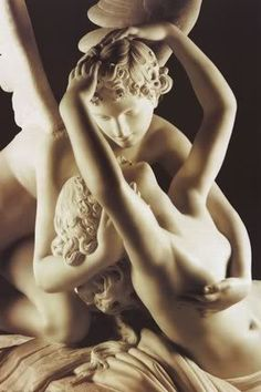 """""""Cupid & Psyche"""" (or """"Psyche Revived by Cupid's Kiss"""") by Antonio Canova. One of my favorite myths and a breathtaking sculpture."""