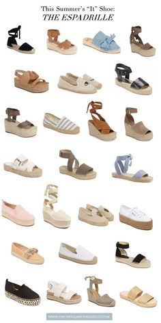 shoes - This Season's BEST Espadrilles Danielle Gervino Pretty Shoes, Beautiful Shoes, Cute Shoes, Me Too Shoes, Espadrille Shoes, Shoes Sandals, Wedge Sandals, Espadrilles Outfit, Flat Shoes