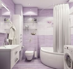 ванная комната в фиолетових тонах - Пошук Google