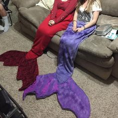 Mermaid Tail Fleece Blankets any color by MachasMermaidTails: