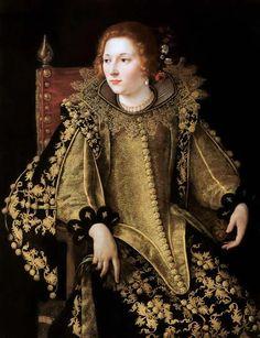 """Artemisia Gentileschi (1593–1653) """"Dame assise de trois-quarts""""."""