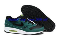 3mrbEe Mens Nike Air Max 1 Green Black $52.31 #Nike Air Max Sale