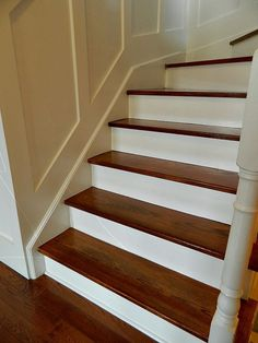 An {Easy Way} to {Refinish Your Staircase!}