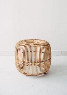 Lovely little stool / side table made from iron and rattan. Perfect to use as a side table next to your favourite chair in your living area or as a Pouf Ottoman, Rattan Pouf, Plywood Shelves, Wall Shelves, Rattan Furniture, Handmade Furniture, Luxury Furniture, Black Dining Room Chairs, Ikea Chairs